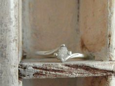 Mounted raw rough diamond #engagement ring , simple but so nice..