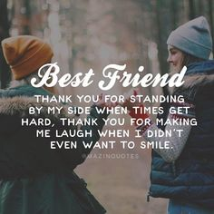"True Friendship Quotes – Best Friends Forever Quotes ""True friends aren't the ones who make your problems disappear. Best Friends Tumblr, Best Friends Forever Quotes, Besties Quotes, Cute Quotes, Funny Quotes, Bestfriends, Birthday Quotes For Best Friend, Best Friend Sayings, Thank You Best Friend"
