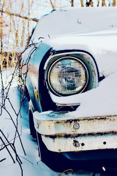 Winter. Ice. Storm. Nature. Photography. Carrie McClellan Photography. Snow. Vintage. Car.