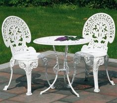 Chapter 1  Furniture. Garden Furniture From The Industrial Revolution, Made  Of Cast Iron