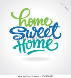 'home sweet home' hand lettering, vector (eps8) - stock vector #download #stock #StockImages #microstock #royaltyfree #vectors #calligraphy #HandLettering #lettering #design #letterstock #silhouette #decor #printable #printables #craft #diy #card #cards #label #tag #sign #vintage #typography