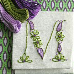 DIY pdf Crewel Embroidery Pattern Monogram M is by PrairieGarden, $5.00