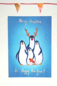Penguin wishes. Illustrator Ellen Lambrichts on Etsy