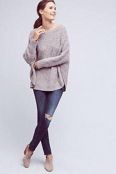 Speckled Poncho Pullover