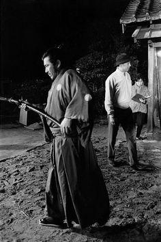 """On the set of """"Sanjuro"""" (Akira Kurosawa, 1962)"""