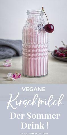 Kirschmilch mit Vanille- der perfekte Sommer Drink. Aus selbst gemachter Mandelmilch nicht nur lecker, sondern auch super gesund. Ein tolles veganes Rezept für die ganze Familie. #gesunderezepte #sommerrezepte #gesundeernährung #vegetarisch #glutenfrei #superfoods #kirschrezepte