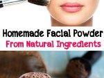 Homemade facial powder from natural ingredients