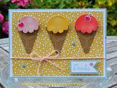 Annies Stempelstübchen Geldgeschenk für eine Runde Eis / Ice Cream