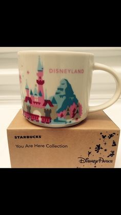 """BUY IT NOW... ONLY $24.88 NEW """"STARBUCKS DISNEYLAND COLLECTOR'S COFFEE MUG"""" ... FROM THE STARBUCKS """"YOU ARE HERE"""" SERIES ..THESE COFFEE MUGS ARE ONLY AVAILABLE FROM THE STARBUCKS INSIDE DISNEYLAND .... (PLEASE CLICK-ON THE PICTURE TWICE TO SEE MORE DETAILS AND MORE PICTURES) #Starbucks  #Disneyland #CoffeeMugs #Coffee #WaltDisneyWorld"""