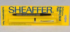NEW Old Stock Sheaffer No Nonsense ROLLING BALL PEN SEALED PACK - YELLOW #Sheaffer