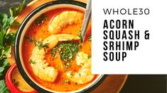 Part of my New Year's Resolution is to start eating more soup.  Since the New Year is upon us, I decided to start experimenting with some easy soup recipes before the end of the year.  This Whole30 Acorn Squash Soup is not only delicious but also nutritious! Why do I love soup? Well, first off, … Squash Soup, Acorn Squash, Sausage And Egg Mcmuffin, Zucchini Cheese, How To Make Crepe, Shrimp Soup, Paleo, Keto, Easy Soup Recipes
