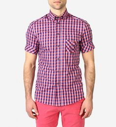 SS Check Shirt by Johnny Love $150 | Johnny Love's 'Leone' shirt stands on its own as a weekend shirt but also lends itself nicely to your business casual wardrobe. | GOTSTYLE.ca