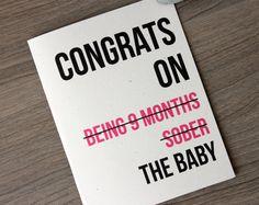 Funny New Baby Card Funny Congrats Card