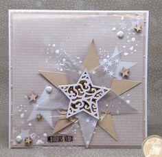 Vánoční přání Christmas Cards 2018, Homemade Christmas Cards, Christmas Star, Handmade Christmas, Holiday Cards, Card Making Tutorials, Making Ideas, Craftwork Cards, Star Cards
