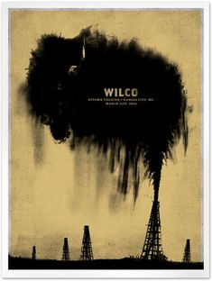 Mikey Burton / Graphic Design, Illustration and Letterpress Commemorative poster for Wilco's performance at Uptown Theater in Kansas City, MO (18 x 24, 2-color screen-print). Featured in Communication Arts 2006 Design Annual, Baton Rouge Design ExhibitCURRENT: The Aesthetics of Contemporary Culture, and The First Chicago International Poster Biennial 2008;