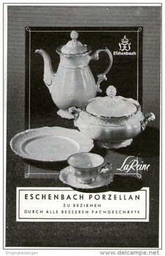 """Original-Werbung/Anzeige 1952 - ESCHENBACH PORZELLAN / """"LAREINE"""" - ca. 65 x 110 mm"""