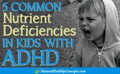 Vitamin, mineral, antioxidant and essential fatty acid deficiencies.