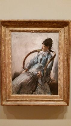 Portrait of madam de nittis Edgar Degas, 1872. Portland Art Museum in Portland, OR