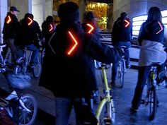 Turn Signal Bike Jacket (created with Lilypad Arduino & sewable electronic components)
