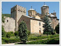 The monastery of Manasija, Serbia