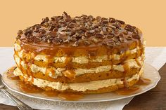 First pie, now this: A jaw-dropping pumpkin cake with pecans, caramel and cream…