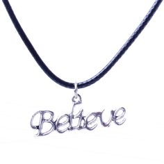Silver Plated Word Pendant Necklace for Believer