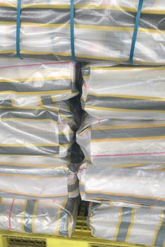 You can choose this package if you like. But it costy if you transport them by air even by the sea. Our solutions of reduce the cost of delivery is pack them in rolls. Tarpaulin, Rolls, Container, Delivery, Packaging, Sea, Ocean, Wrapping, Wraps