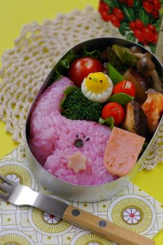 pink elephant #bento #kids #lunch
