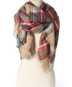 Look at this #zulilyfind! Beige Plaid Scarf #zulilyfinds