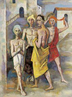 """Karl Hofer, """"Die törichten Männer"""", 1940, Öl auf Leinwand."""