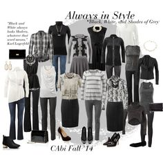 """""""Always in Style - Black, White, and Shades of Grey"""" by leanne-m-zellmer on Polyvore www.jeanettemurphey.cabionline.com"""
