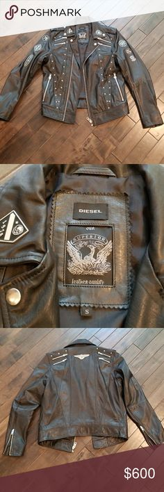 Diesel leather jacket Diesel leather jacket size small. Purchased from diesel flagship store in NYC. Worn twice. Never washed, no stain rips or odors, 9.8/condition. 100% authentic Diesel Jackets & Coats