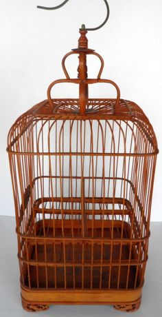 Vintage Decoative Bamboo Bird Cage Cottage Chic by TheDecoHotel