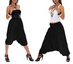 INDIAN 100% COTTON BLACK PLAIN ALIBABA HAREM PANTS UNISEX TROUSERS BAGGIE HIPPIE #New #AlibabaHaremPantsUnisexTrousersAfgani