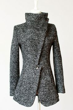Standout Heather Slim Coat - OASAP.com