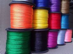 50 yard roll satin cord 1/16 wide rat tail. Lots by pandorashack, $6.99