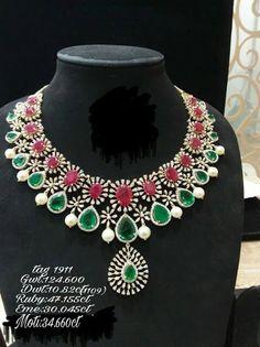 7d7a6708b1 Lotus Jewelry, Ruby Jewelry, India Jewelry, Trendy Jewelry, Temple Jewellery,  Diamond