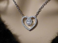 Judith Ripka Diamonique Heart Sterling Silver Necklace FREE SHIP. Free shipping and guaranteed authenticity on Judith Ripka Diamonique Heart Sterling Silver Necklace FREE SHIPGet this beautiful necklace at over 35% off retail...
