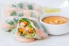 This will be a serious upgrade to that sad desk lunch. Make your own summer rolls, buffet style.