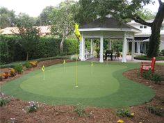 Practice your putting on this professionally-installed designer green from Tour Links in Florida. What a great way to socialize and hang out with friends. More info here: http://www.landscapingnetwork.com/products/sports-games/modular-putting-greens.html