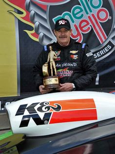 NHRA racer Mike Edwards and his all-new 2013 Chevy Pro Stock Camaro #knfilters