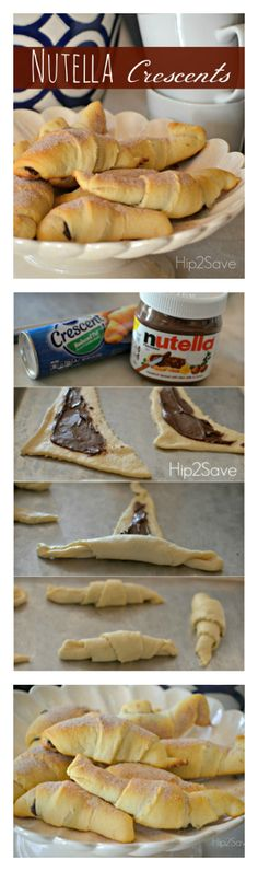 A Nutella recipe you'll enjoy that only needs two ingredients. The Nutella crescents are easy to make and delicious.