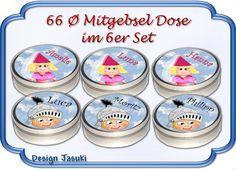 Gastgeschenke - 6 Dose Ritter,Burgfrau auf Insel Kindergeburtstag  - ein Designerstück von Kindergeburtstag1 bei DaWanda