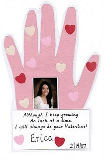 cute handprint/Valentine card