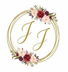 Brasão Monograma Floral Marsala Casamento - Digital no Elo7   Fê Franco Artes Gráficas (E333BD) Rose Gold Wallpaper, Flower Background Wallpaper, Flower Phone Wallpaper, Flower Backgrounds, Burgundy Wedding Invitations, Wedding Invitation Cards, Wedding Cards, Our Wedding, Wedding Logos