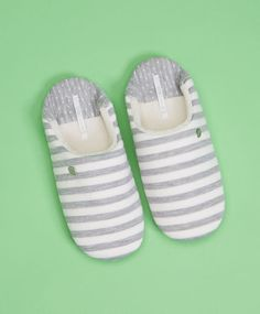 Striped slingback slippers - Footwear.