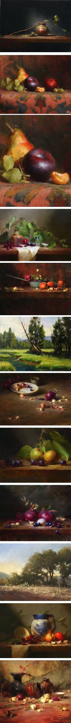 Originally from Indiana, still life and landscape painter David Riedel studied art in Arizona, and later at the Art Students League in New York, where he studied with noted painter and teacher David Leffel.