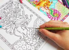 Spring Queen   Digital Adult Coloring Page Printable by MaatSilk