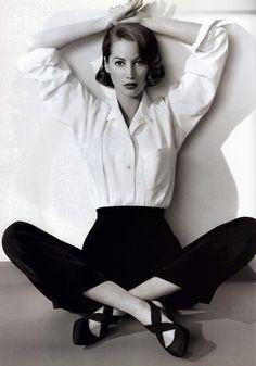 Anne Klein Footwear by Schwartz and Benjamin, American Vogue, April 1992.
