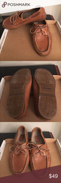 Rockport Men's boat shoes size 13w Classic Rockport loafer. Designed to be worn barefoot. Breathable unlined leather upper. Excellent condition, smoke free, pet free home. Rockport Shoes Loafers & Slip-Ons